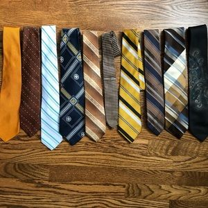 Vintage Men's Neck Ties | Gold Tie Clip Included